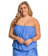 Athena Plus Size Cabana Solids Soft Cup Bandini Top
