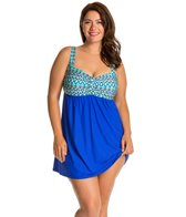 Athena Plus Size Sunset Serenade Underwire Swim Dress