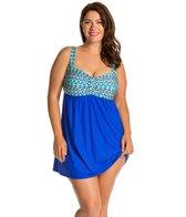 Athena Plus Size Sunset Serenade Underwire Swim Dress
