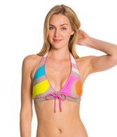 Trina Turk The New Pop Wave Banded Halter Bikini Top