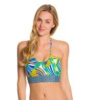 Trina Turk Amazonia Midkini Halter Bikini Top