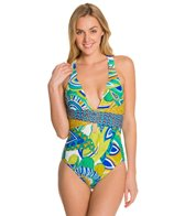 Trina Turk Amazonia Cross Back One Piece Swimsuit