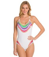 Trina Turk Baja Embroidery One Piece Swimsuit
