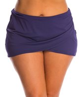 Anne Cole Plus Size Solids Sarong Swim Skirt