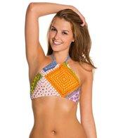 MINKPINK Sunset Patchwork Halter Bikini Top