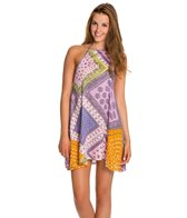 MINKPINK Sunset Patchwork Halter Dress