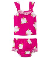 iPlay Girls' Pansy Mod Ultimate Swim Daper Two Piece Tankini Set (3mos-3yrs)