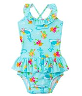 iPlay Girls' Luau Classics Ultimate Swim Diaper Tuffle Tanksuit (3mos-3yrs)
