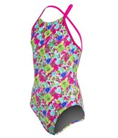 Arena Girls' Watercolor One Piece Swimsuit