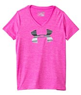 Under Armour Girls' Big Logo Tech Novelty V-Neck (6yrs-20yrs)