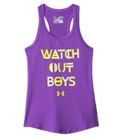 Under Armour Girls US Watch Out Boys Tank (6yrs-20yrs)