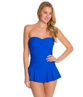 Ceeb Solid Bandeau Swim Dress