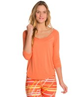 Cozy Orange Rue Yoga Shirt