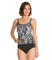 Maxine Patchwork Paisley Scoop Tankini One Piece Swimsuit