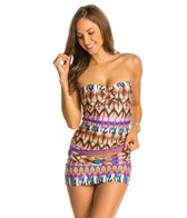 Kenneth Cole Miss Mojave Bandeau Tankini Top