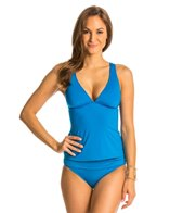 Kenneth Cole Strappy Hour Solid Cross Back Tankini Top