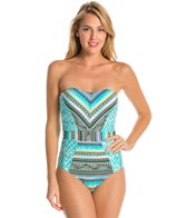 Kenneth Cole Reaction Beach Please Bandeau One Piece Swimsuit