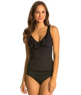 Kenneth Cole Reaction Ruffle-licious Solid OTS Tankini Top