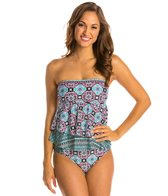 Kenneth Cole Reaction Tile it up Flyaway Bandeau Tankini Top