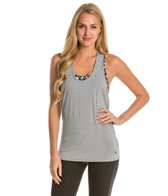 Trina Turk New Draped Back Jersey Workout Tank Top