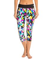 Trina Turk Kaleidoscope Print Mid-Length Leggings