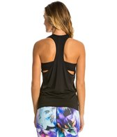 Trina Turk Bermuda Triangle Solid Layered Workout Tank Top