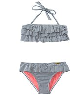 Jessica Simpson Girls' Seersucker Ruffle Two Piece Set (4yrs-6x)