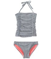 Jessica Simpson Girls' Seersucker Halter Tankini Set (4yrs-6x)