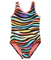 Jessica Simpson Girls' Zebra Stripe One Piece (4yrs-6x)