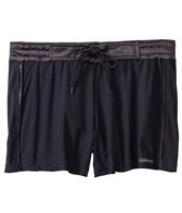 Sauvage Tuxedo Black Satin Lycra Swim Short