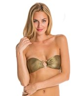 Sauvage Gold Aruba Jeweled Crystal Snake Bandeau Top