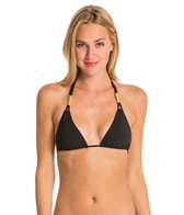 Sauvage Spider Knotted Triangle Double Strap Gold Slider Top