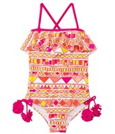 Raisins Girls' Sun Is Shining San Diego Flutter One Piece (4yrs-6X)