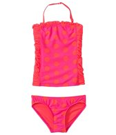 DKNY Girls' Round Up Dots Little Darling Bandeau Tankini Set (2T-4T)