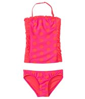 DKNY Girls' Round Up Dots Little Darling Bandeau Tankini Set (6yrs)