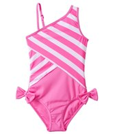 DKNY Girls' Little Perks Lovely Jubbly One Shoulder One Piece (8yrs-16yrs)