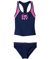 DKNY Girls' Mini Match Maker Tankini Two Piece Set (6yrs)
