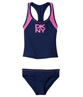 DKNY Girls' Mini Match Maker Tankini Two Piece Set (8yrs-14yrs)