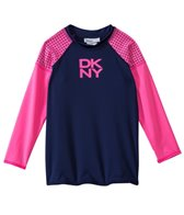 DKNY Girls' Mini Match Maker Long Sleeve Rashguard