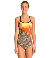 HARDCORESPORT Women's Pink Jules Cali Back One Piece Swimsuit