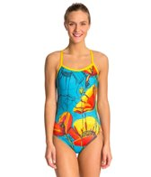 HARDCORESPORT Women's Poppies Cali Back One Piece Swimsuit