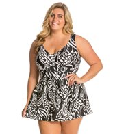 Maxine Plus Size So Chic Empire Swimdress
