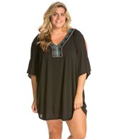 Plus Size Eye Candy Cover Up Tunic