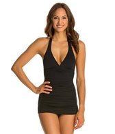 Coco Rave Solid Groovy Halter D/DD Cup Swimdress