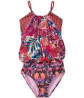 Maaji Girls' Atomic Blossom Tankini One Piece (6yrs)