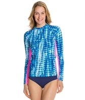 EQ Swimwear Indigo Tie Die Long Sleeve Rashguard