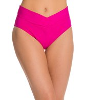 Sunsets Solid V-Front High Waisted Bikini Bottom
