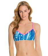 EQ Swimwear Indigo Tie Die Passion Top