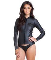Billabong Women's 1MM Peeky Front Zip Long Sleeve Wetsuit Jacket