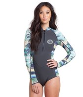 Billabong Women's 2MM Salty Dayz Front Zip Long Sleeve Spring Suit Wetsuit